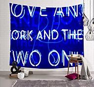 abordables -tapisserie murale art déco couverture rideau pique-nique table tissu suspendu maison chambre salon dortoir décoration fibre de polyester nature morte moderne néon lumière bleu royal anglais