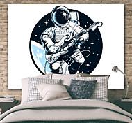 abordables -tapisserie murale art déco couverture rideau pique-nique table tissu suspendu maison chambre salon dortoir décoration polyester fibre astronaute musique