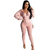 abordables -Femme Plein Usage quotidien Ensemble deux pièces Sweat à capuche Pantalon Vêtements d'intérieur Hauts