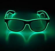 abordables -lunettes à LED lunettes de néon réglables, cadeaux de fête, lunettes de soleil à LED lumineuses (monture noire + lentilles claires)