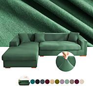 abordables -housse de canapé extensible housse de canapé pas cher 1 pièce housses de couleur unie housses de couleur unie gris doux housses durables spandex jacquard tissu protecteur de meubles lavable