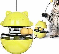 abordables -jouets pour chats balle de distributeur de friandises interactives, mangeoire de puzzle de nourriture plus lente pour chat, gobelet de formation pour animaux de compagnie iq balle qui fuit avec