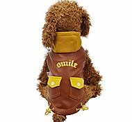 economico -gornorriss cappotto invernale per cani giacca con cappuccio da moto in pelle pu con due tasche per cane, giacca impermeabile in pelle per abiti da compagnia