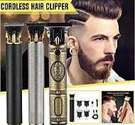 abordables -Top vente tondeuse à cheveux tondeuse à cheveux barbier coupe de cheveux rechargeable sans fil machine de coupe de cheveux barbe tondeuse 0mm rasoir hommes rasoirs