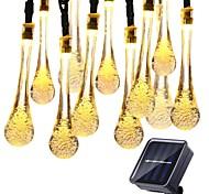 abordables -6.5m-30leds 12m-100leds lumière solaire à l'extérieur ampoules de gouttelettes lampe solaire étanche RVB fée chaîne lumières solaires pour jardin décor de vacances