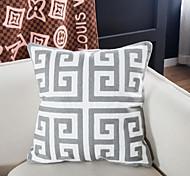 abordables -Housse de coussin coton extrême simple style géométrie serviette brodé bureau à domicile taie d'oreiller couverture salon chambre canapé housse de coussin