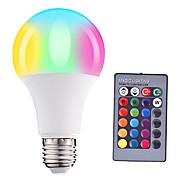 abordables -1 pc 5 W Ampoules Globe LED 500 lm E26 / E27 A60(A19) 1 Perles LED LED Haute Puissance Intensité Réglable Commandée à Distance Décorative RGB 85-265 V
