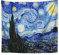 abordables -mandala tapisserie murale bohème art décor couverture rideau pique-nique nappe suspendue maison chambre salon dortoir décoration boho hippie polyester magie van gogh ciel étoilé peinture à l'huile