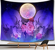 abordables -tapisserie murale art déco couverture rideau pique-nique table tissu suspendu maison chambre salon dortoir décoration polyester fibre nature morte avec crâne roses