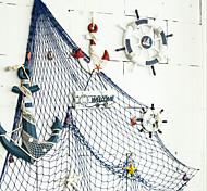 economico -rete da pesca decorativa mediterranea rete da pesca spessa corda di canapa sfondo decorazione da parete rete da pesca