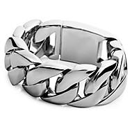 abordables -grand bracelet en acier inoxydable lourd pour homme, poignet argenté (poids: 303g)