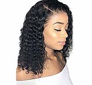 abordables -cheveux 18 pouces perruques synthétiques perruques de cheveux brésiliens bouclés pour les femmes (noir)