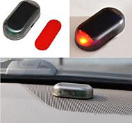 abordables -voiture fausse sécurité lumière solaire alimenté simulé alarme factice sans fil avertissement anti-vol avertissement lampe led clignotant imitation