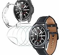 economico -[Confezione da 5] protezione per lo schermo + [confezione da 1] guscio protettivo in tpu morbido per samsung galaxy watch 3 (45 mm), (pellicola flessibile) impronta digitale antigraffio trasparente hd