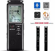 abordables -Enregistreur vocal 32 Go Stylo USB Microphone intégré Lecteur MP3 Dictaphone Enregistreur d'interview audio numérique avec lecteur WAVMP3