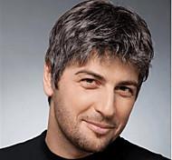 economico -parrucca sintetica diritta parrucca corta bob corta marrone chiaro capelli sintetici neri da uomo design alla moda classico squisito nero marrone chiaro