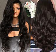 abordables -Perruque Synthétique Bouclé Ondulé Partie médiane Perruque Longue Noir Cheveux Synthétiques 26 pouce Femme Design à la mode Soirée Confortable Noir