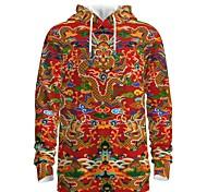 abordables -Femme Homme Sweat-shirt à capuche Dragon Graphique 3D Fin de semaine Impression 3D Simple Chic de Rue Pulls Capuche Pulls molletonnés Rouge