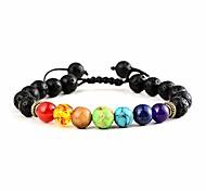 economico -braccialetto chakra, braccialetto pietra lavica pietre chakra aromaterapia ansia braccialetto di olio essenziale per donne uomini (1100)