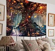 abordables -Tapisserie murale art décor couverture rideau pique-nique nappe suspendu maison chambre salon dortoir décoration polyester fantaisie arbre