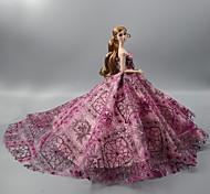 economico -Abito da bambola Poliestere / poliammide Miscela lino / cotone Questo è un abito completo di un solo pezzo Senza accessori Gonna squisito Tutti / Per la bambola da 11,5 pollici