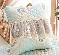 abordables -housse de coussin beau style européen style européen brodé dentelle bord vertical taie d'oreiller couverture salon chambre canapé housse de coussin