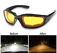 abordables -UV400 lunettes de conducteur de vision nocturne anti-éblouissement conduite de nuit lunettes de lumière améliorées lunettes de soleil de mode lunettes accessoires de voiture