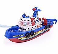 abordables -modèle de bateau de sauvetage marin jouet, enfants musique lumière pulvérisation d'eau électrique sauvetage marin modèle de bateau de pompier éducation jouet grandes vacances cadeaux d'anniversaire