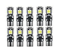 economico -10 pz canbus led bianco lampadine per auto t10 w5w 5 smd 5050 super luminoso 194168 2825 luci a cuneo luci laterali mappa interni lampade