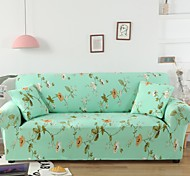 abordables -housse de canapé 1 pièce florale verte housse de canapé protecteur de meubles housse extensible douce tissu jacquard spandex super fit pour canapé 1 ~ 4 coussin et canapé en forme de l, facile à