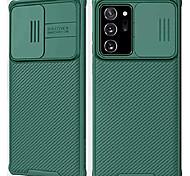 abordables -Coque Galaxy Note 20 Ultra avec Couvercle de Caméra, Note 20 Ultra Liquid Silica Couverture Antichoc Souple de Protection avec Couvercle de Caméra Slide, Étui amélioré pour Samsung Galaxy Note 20