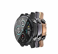economico -custodia protettiva per schermo compatibile con huawei honor magic watch 2 46mm cover cover protettiva completa per honor magic watch 2 46mm (non per 42mm) (nero + grigio + oro rosa)