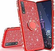 economico -hh xiaomi redmi note 8 cassa del telefono pro, scintillio lusso bling diamante strass paraurti 360 gradi grip anello cavalletto protezione sottile copertura per xiaomi redmi nota 8 pro rosso