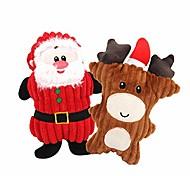 abordables -jouets de Noël pour chiens, jouet pour chien qui grince, jouets de Noël pour chiens, jouets pour chiens à mâcher et jouer, jouets pour chiens de Noël, balle à mâcher pour chiot en caoutchouc, jouet