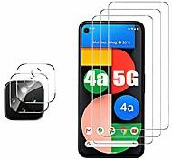 economico -Protezione per schermo trasparente da 3 pezzi + protezione per obiettivo della fotocamera da 2 pezzi per google pixel 5 pixel 4 xl vetro temperato antigraffio anti-impronta per google pixel 4a / pixel 4a 5g