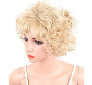 abordables -perruque synthétique hathaway partie médiane perruque blonde courte bouclés blond doré cheveux synthétiques 12 pouces femmes synthétique sexy lady coiffure