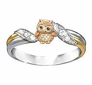 abordables -mebamook bagues de mode pour femmes bague de mariée ronde en argent bijoux bague en diamant cadeaux de fiançailles bague d'anniversaire de mariage, hibou 5