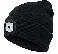 economico -berretto unisex a 4 led in maglia, luminosità led regolabile per campeggio, grigliate, riparazioni auto, jogging, passeggiate o lavoro tuttofare