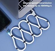 economico -Micro USB USB C Cavi Alta velocità Carica rapida Trasmissione dati 2.4 A 1.8M (6 piedi) PVC Per Xiaomi MI Samsung Xiaomi Appendini per cellulare