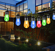 abordables -led solaire rétro ampoule de chaîne bulles imperméables extérieures guirlandes de mariage patio vacances fête hoose lumières décoratives multicolore étanche acrylique solaire alimenté par 5m 6m 7m