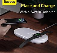 abordables -LITBest 2.5/5/7.5/10 W Puissance de sortie Pad de chargement sans fil Station de recharge sans fil Chargeur Sans Fil Charge Rapide Kit Chargeur RoHs CE FCC Pour iWatch SE / 6/5/4/3/2