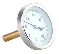 abordables -Thermomètre à cadran horizontal 63 mm jauge de température en aluminium 0-120c