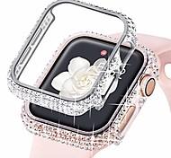 economico -compatibile per apple watch case bling 38mm 40mm 42mm 44mm iwatch se bumper series 6 5 se 4 3 2 1 (argento) 1pz