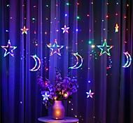 economico -stella di luna ha condotto la luce della tenda 220v 3m fiaba luci della stringa eid al-fitr casa ramadan decorazione del festival illuminazione natalizia decorazione di nozze