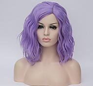 abordables -perruque synthétique hathaway partie médiane perruque violet court bouclé blond doré cheveux synthétiques 12 pouces femmes synthétique sexy lady coiffure