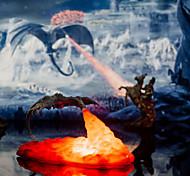 abordables -3D rechargeable dragon veilleuse lampe à lave cadeau de noël impression cracheur de feu 8 pouces dinosaure ornements créatifs volcanique feu dragon jouet pour enfant bébé