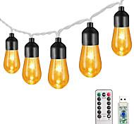 abordables -3m 20leds 13 touches télécommande rétro ampoule acrylique ampoule guirlande lumineuse jardin lumière fête de noël décoration lumière mariage monde de conte de fées gradation fonction de