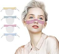 abordables -2 pcs Masques de langage pour les lèvres Masques transparents anti-buée Masques d'impression en PVC pour l'impression en couleur unie sourde et muette