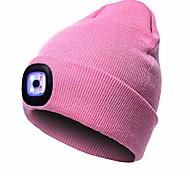 abordables -bonnet chaud et lumineux avec éclairage LED chapeau de lampe frontale rechargeable unisexe… (noir)