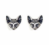 economico -925 orecchini in argento sterling cat punk retrò novità